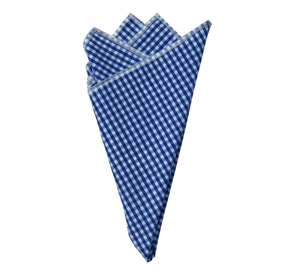 Pocket Square- Blue Gingham