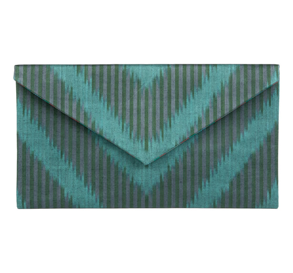 """Sussex"" Silk Ikat Envelope Clutch, Large"