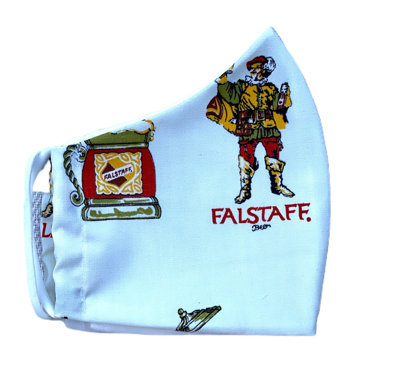Fabric Face Mask-Vintage Falstaff Fabric