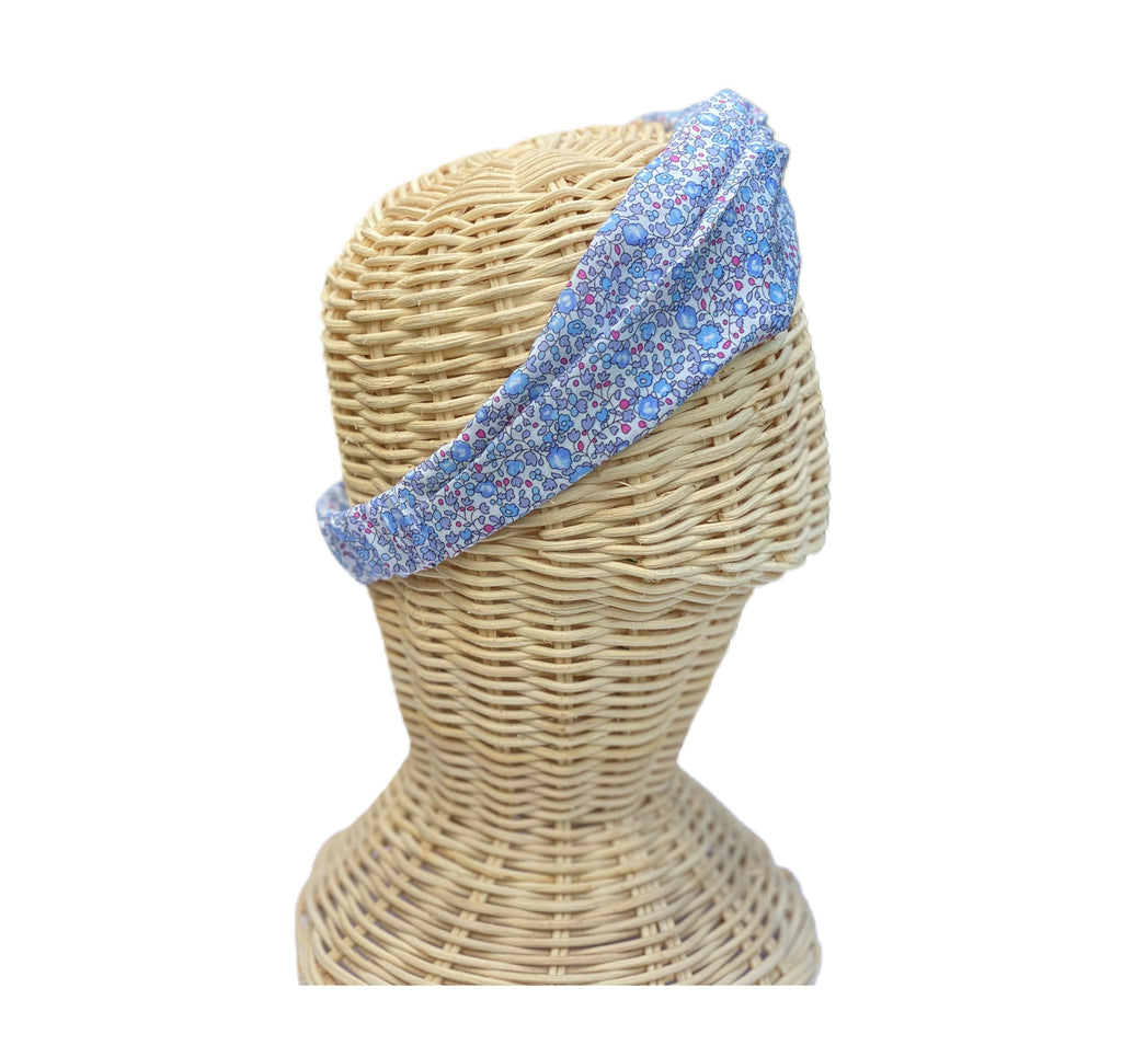 Helen Style Liberty of London Headband - French Blue, Lilac, Raspberry