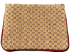 Guatemalan Textile Zip Clutch- Taupe/ Golden Yellow