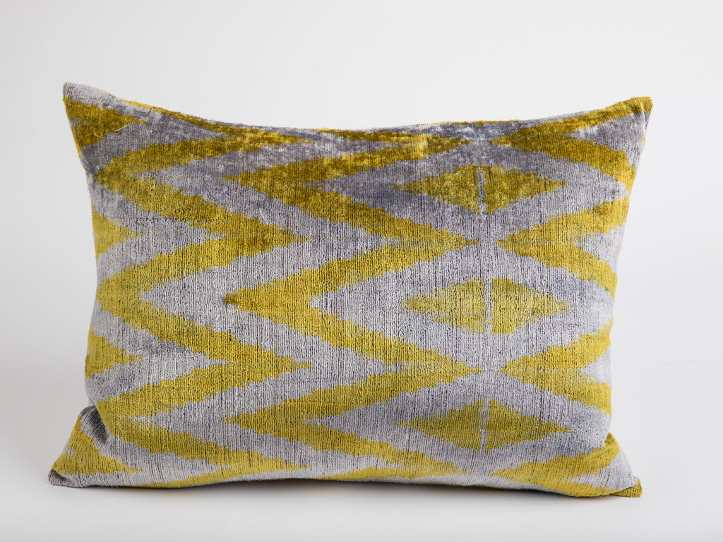 Palavas Silk Velvet Ikat Pillow