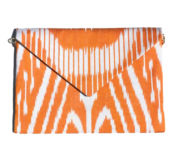 """Thach"" Silk Ikat Envelope Clutch"