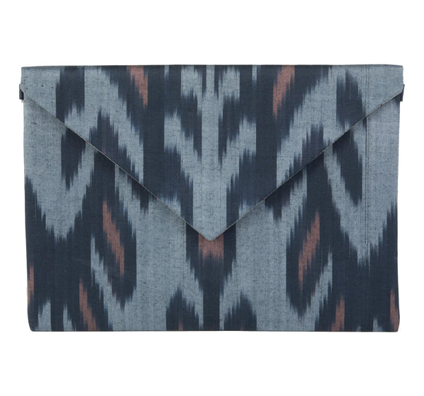 """Kiawah"" Silk Ikat Envelope Clutch, Small"