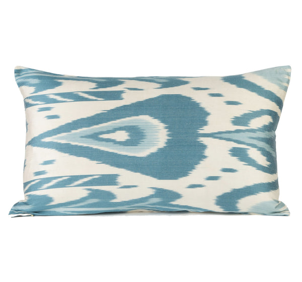 """Lucia"" Silk Ikat Pillow"