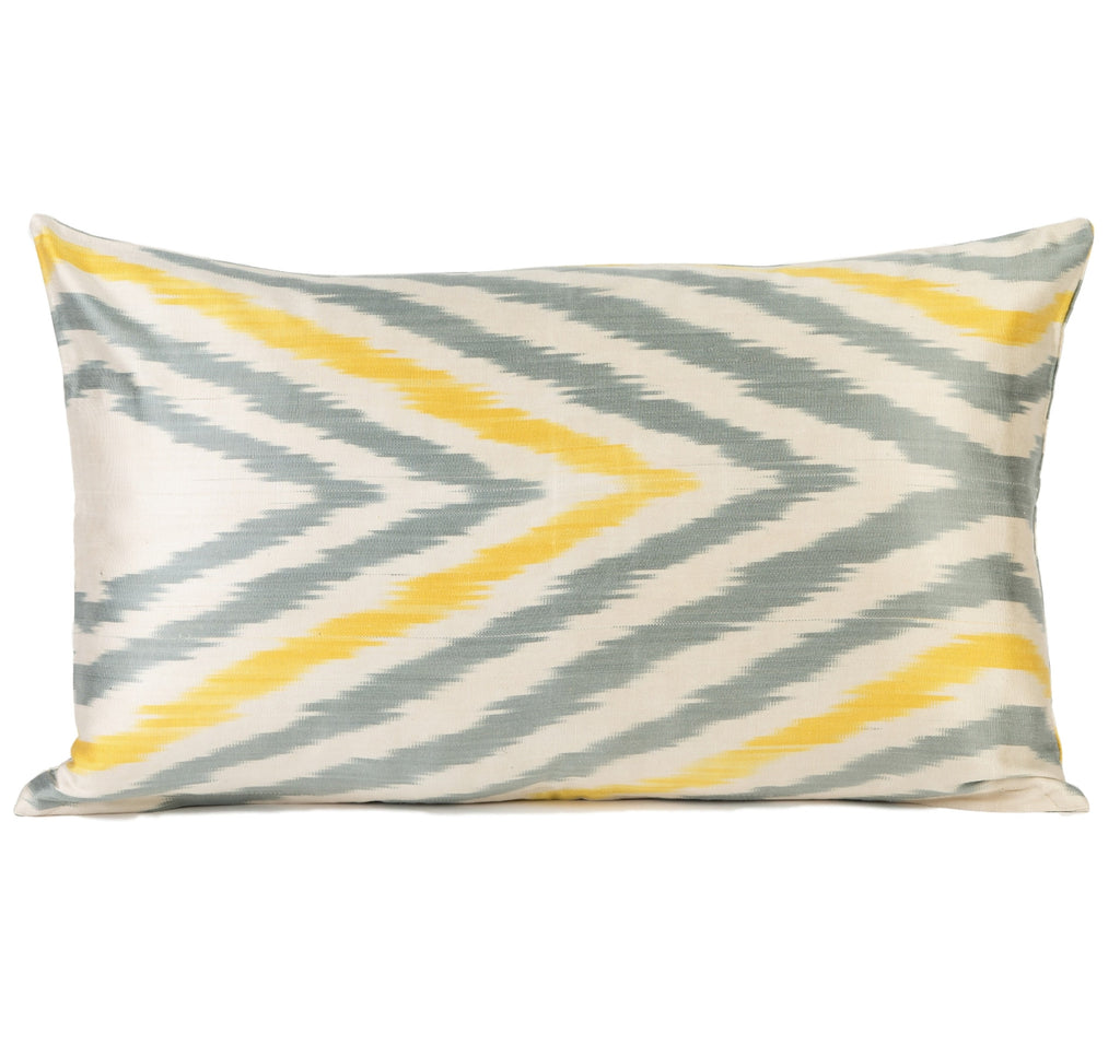 """Aragon"" Silk Ikat Pillow"