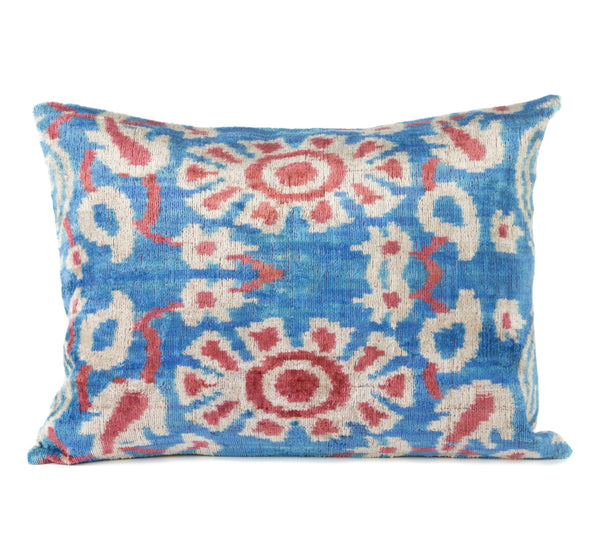 """Beynac"" Silk Velvet Ikat Pillow"