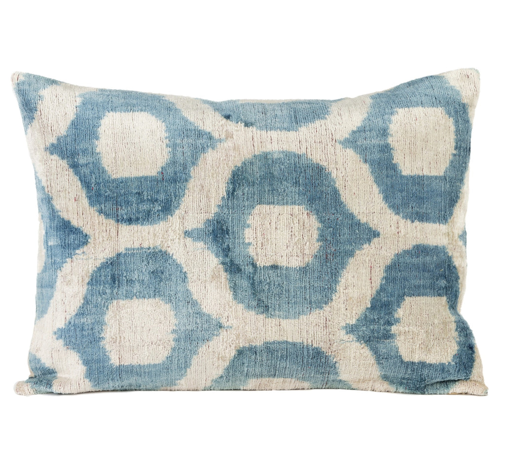 Laroque Silk Velvet Ikat Pillow