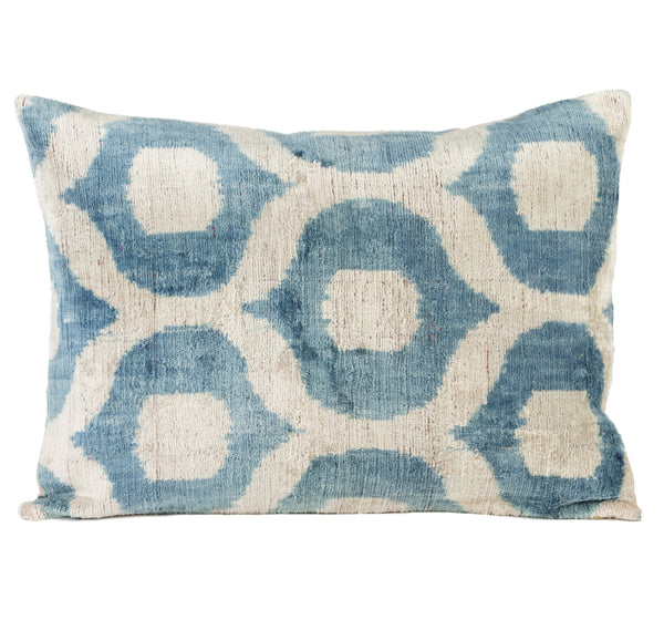 """Laroque"" Silk Velvet Ikat Pillow"
