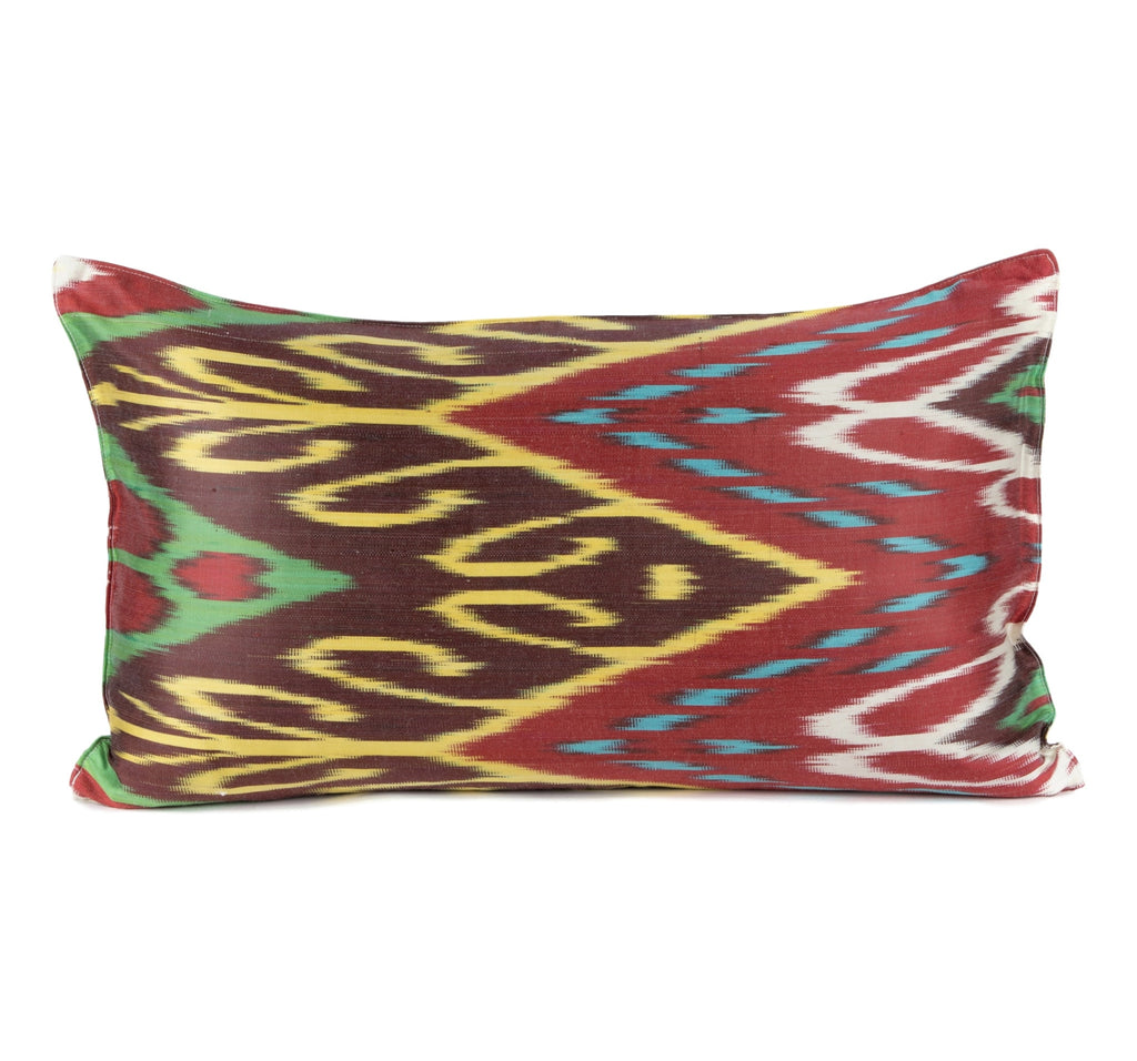 """Carcassone"" Silk Ikat Pillow"