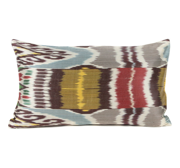 """Moulins"" Silk Ikat Pillow"
