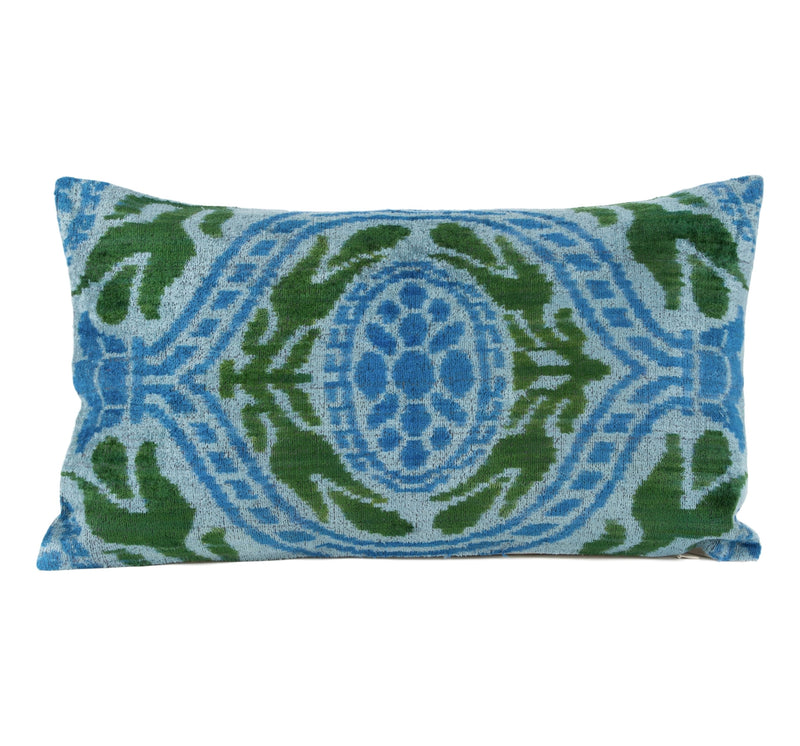 Helaine Silk Velvet Ikat Pillow