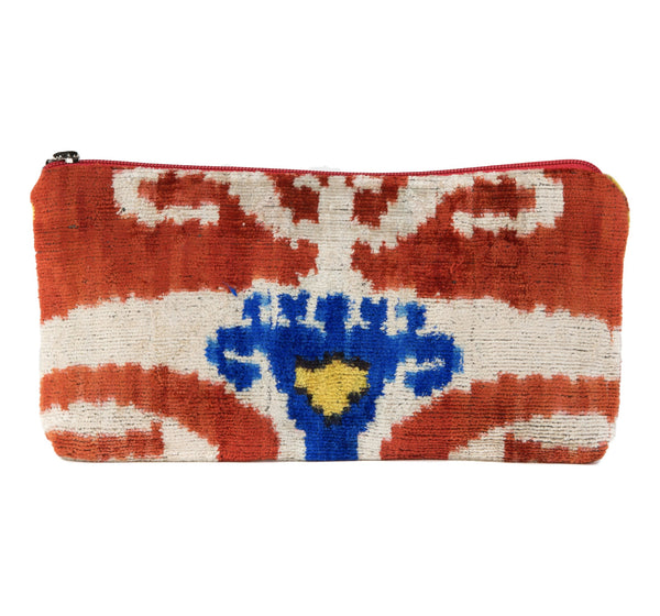 """Andijon"" Silk Velvet Clutch, Large"