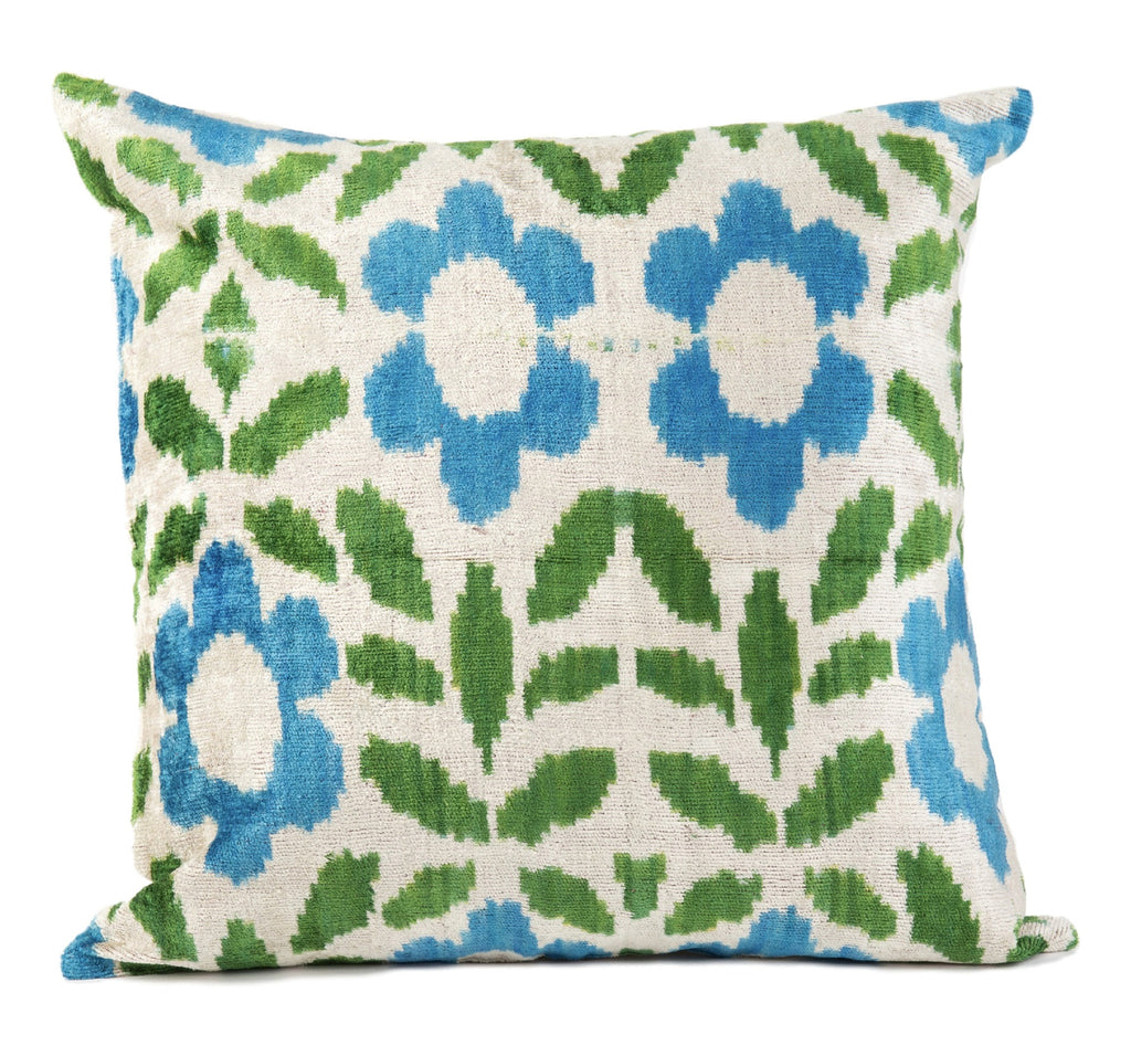 Nimes Velvet Ikat Pillow