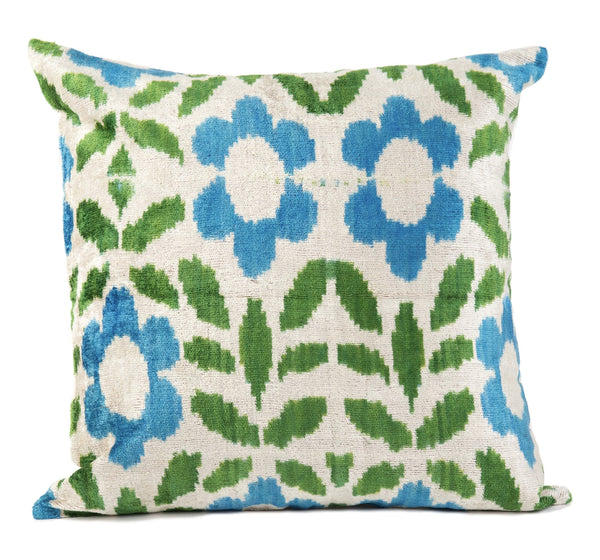 """Nimes"" Velvet Ikat Pillow"