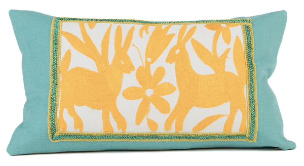 """Celeste"" Otomi Pillow featuring deer"