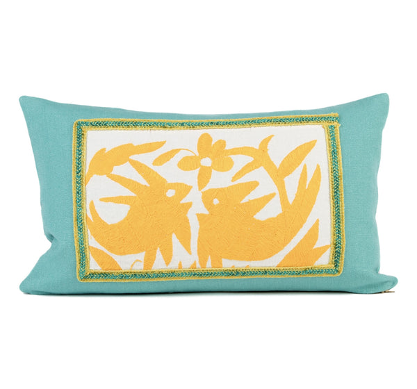 """Celeste"" Otomi Pillow Featuring Fish"