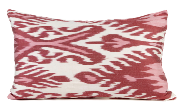 """Courville"" Silk Ikat Pillow"