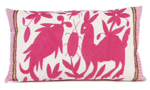 """Rosada"" Otomi Pillow Featuring Various Animals"