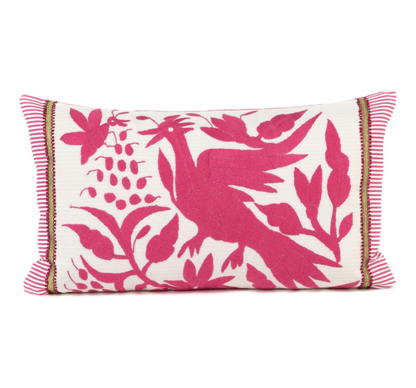 """Rosada"" Otomi Pillow Featuring Bird in Flight"