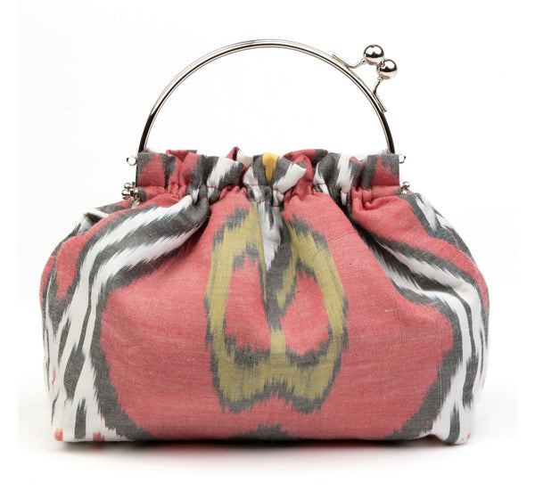 Party Purse in Red, Black and White Ikat