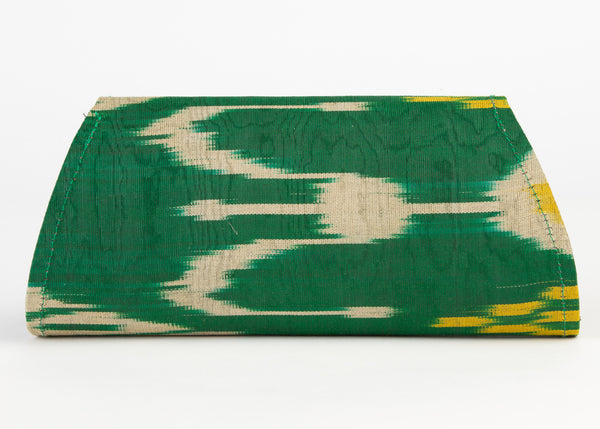 """Clayton"" Hard Shell Clutch, Small in emerald green"