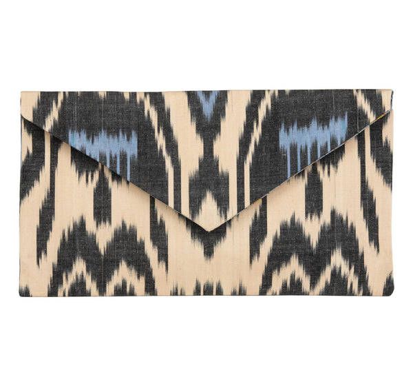 """Kenan"" Silk Ikat Envelope Clutch, Large"