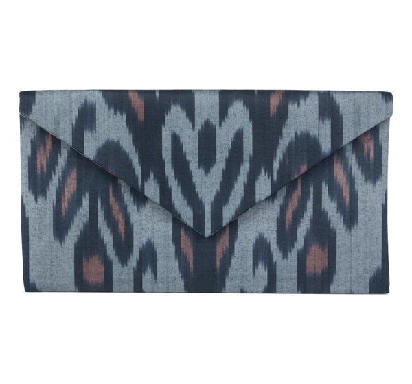 """Kiawah"" Silk Ikat Envelope Clutch, Large"