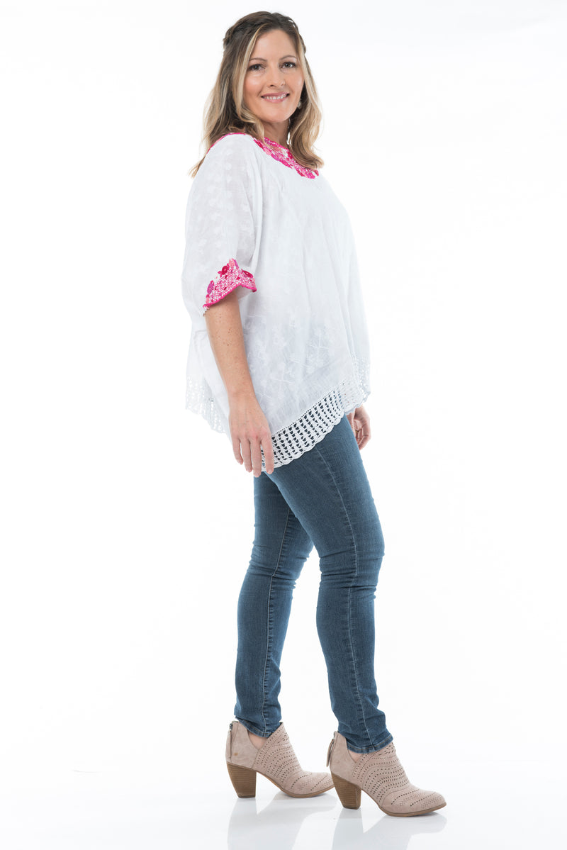 Beatriz Guatemalan Blouse - Pinks