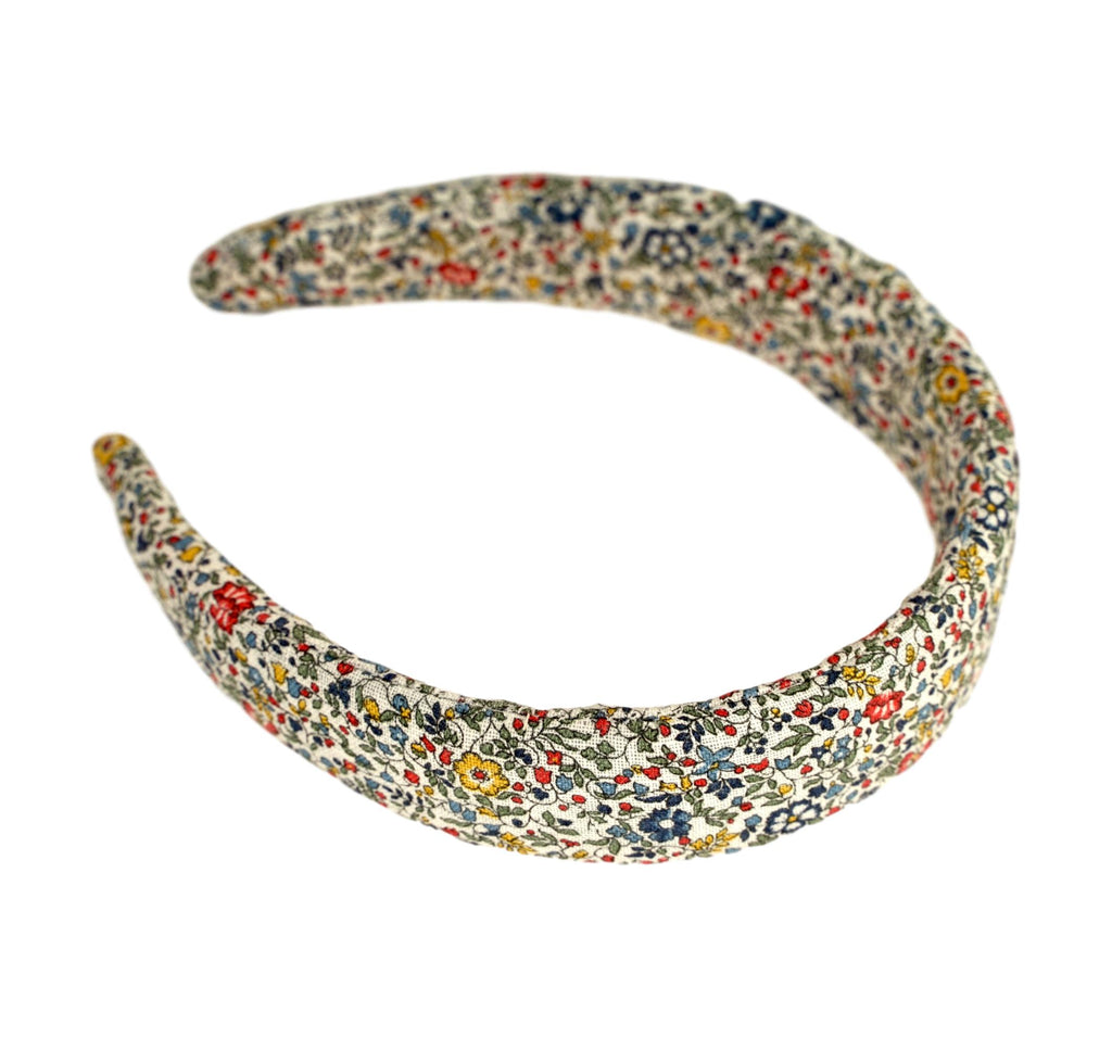 Liberty of London Headband - Linen - Blue, Red, Yellow Multi