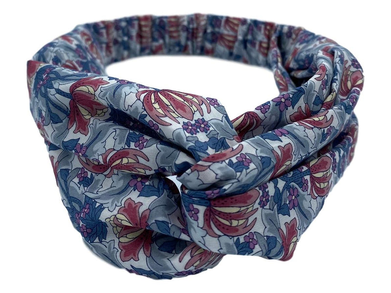 Helen Style Liberty of London Headband, Mauve, Grey, Wine, Blue