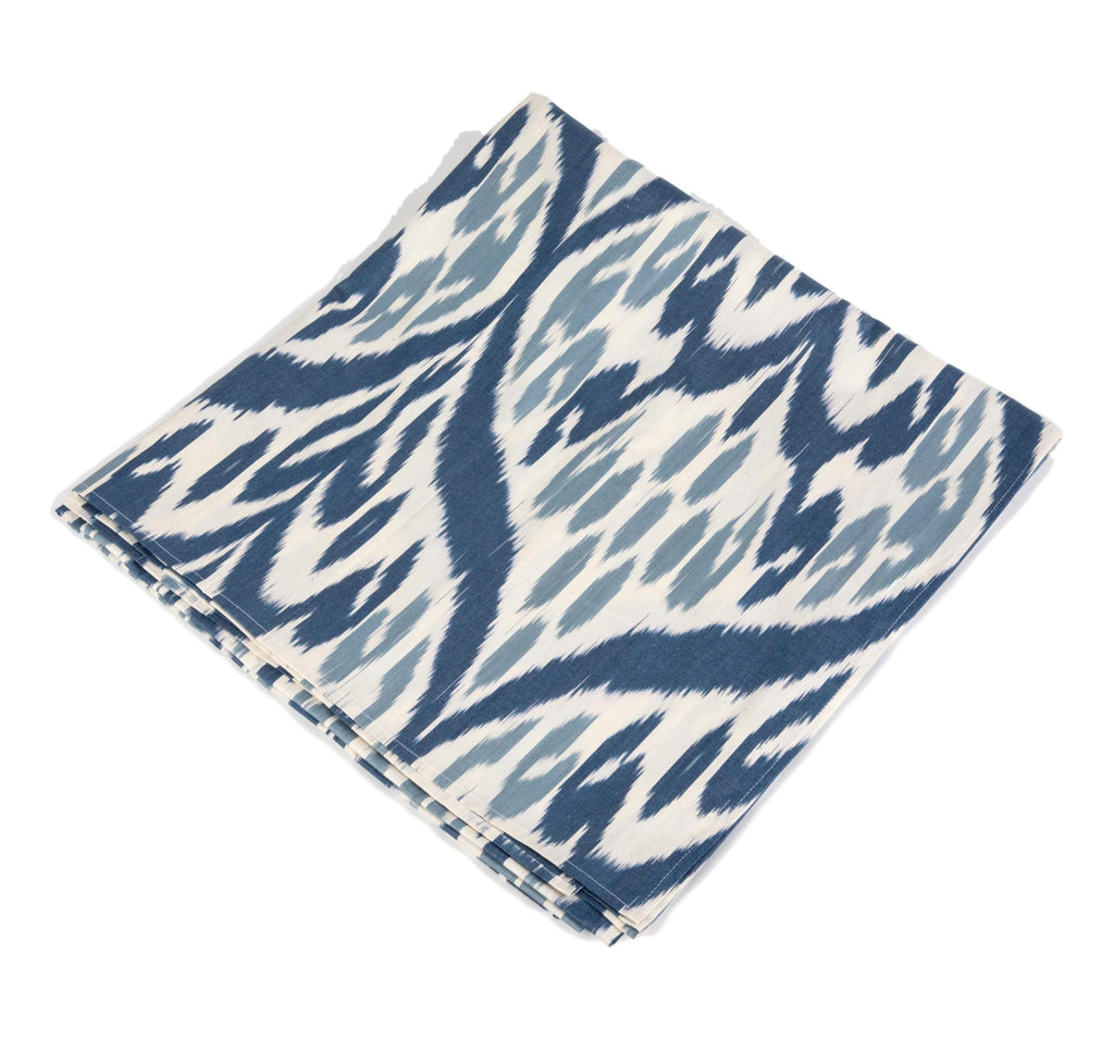 Lucien Cotton Ikat Tablecloth