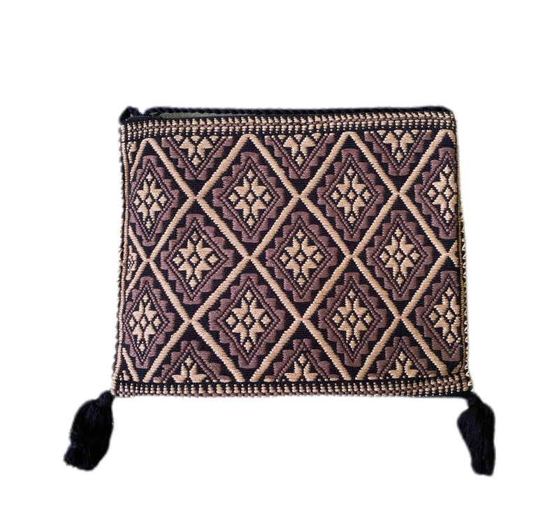San Andres Mexican Crossbody Bag- Coffee, Black, Taupe
