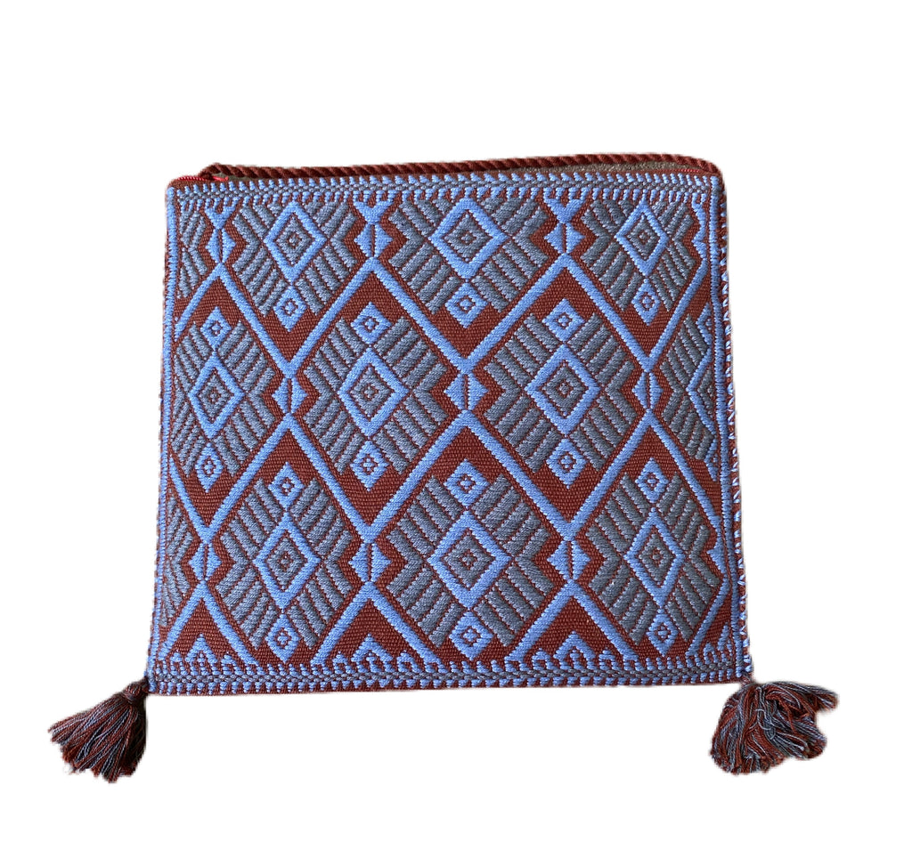 San Andres Mexican Crossbody Bag-Sage Green, French Blue, Coco