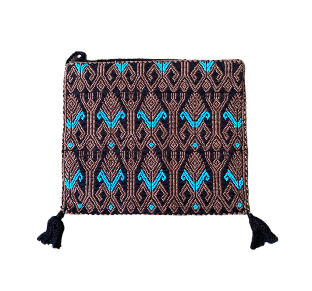 San Andres Mexican Crossbody Bag- Black, Coffee, Turquoise