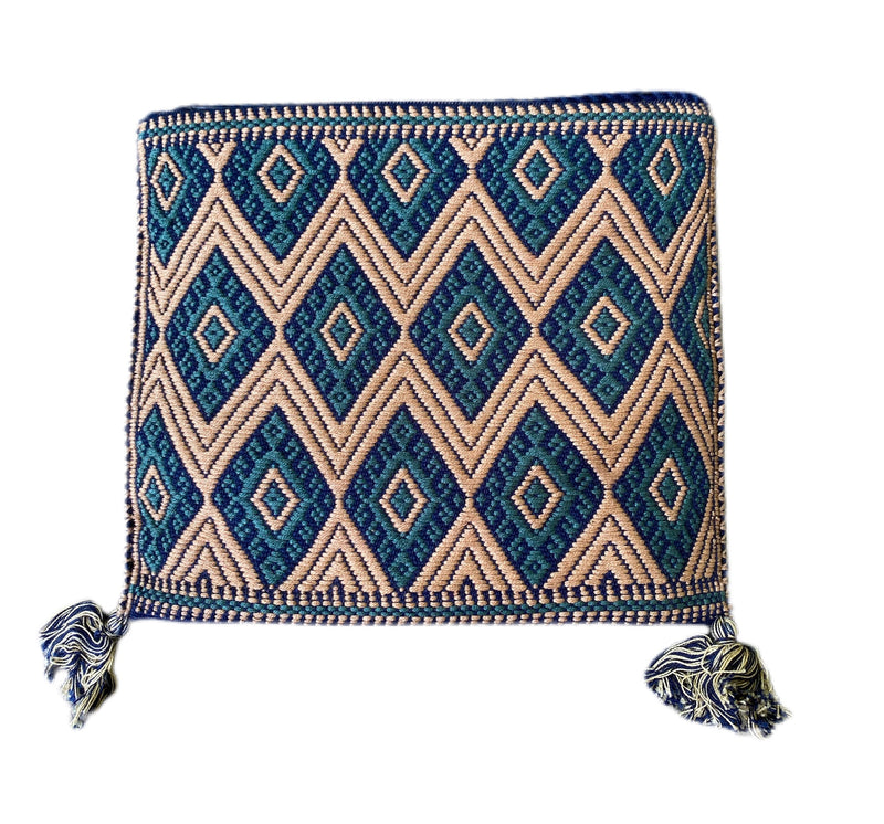 San Andres Mexican Crossbody Bag- Taupe, Teal, Royal Blue