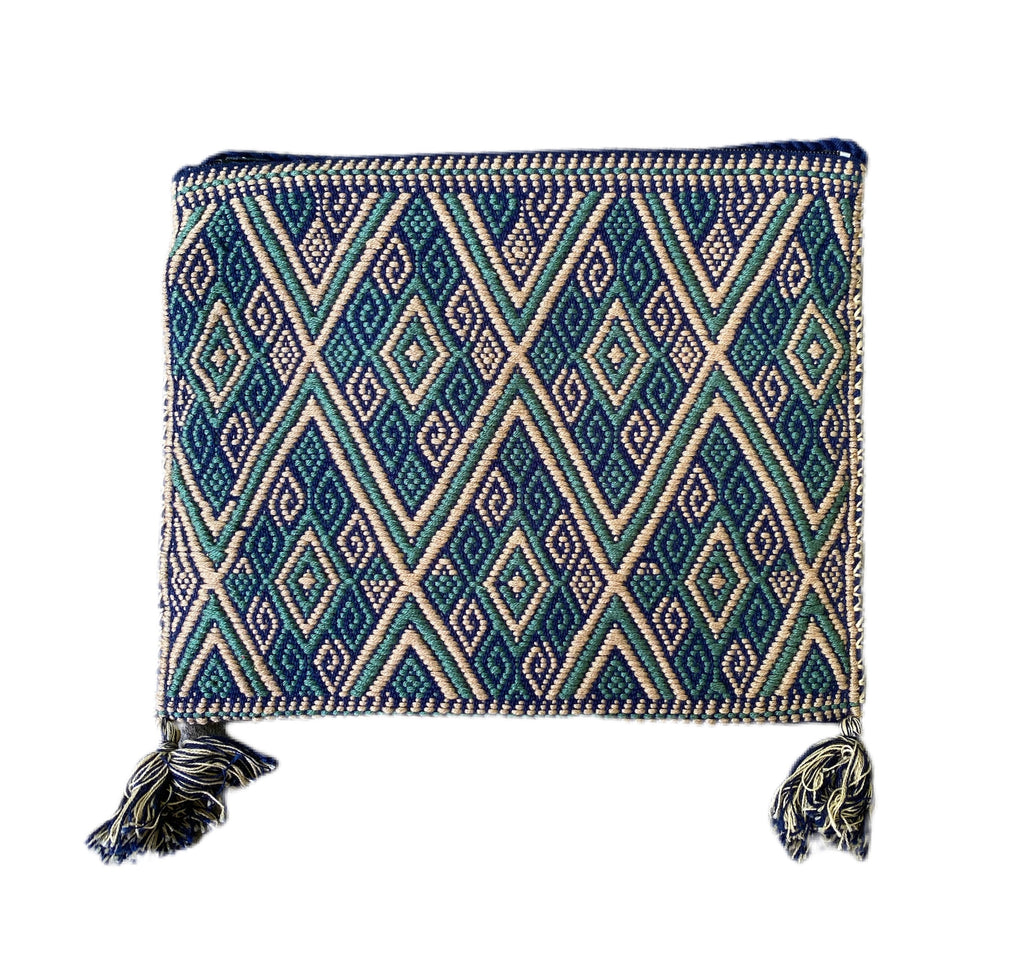 San Andres Mexican Crossbody Bag- Taupe, Aqua, Blue