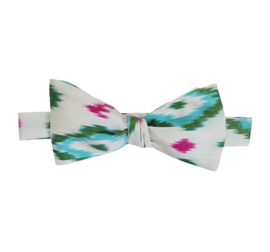 Addison Silk Ikat Bow Tie
