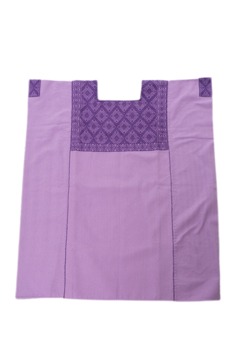 Marina Mexican Blouse - White and Lilac