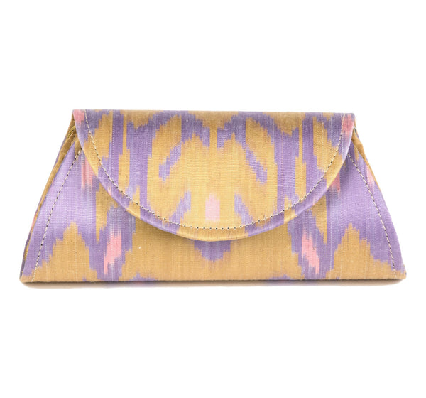 """Ponte Vedra"" Silk Ikat Hard Shell Clutch"