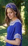 Luisa Guatemalan Kaftan - Blue and Taupe