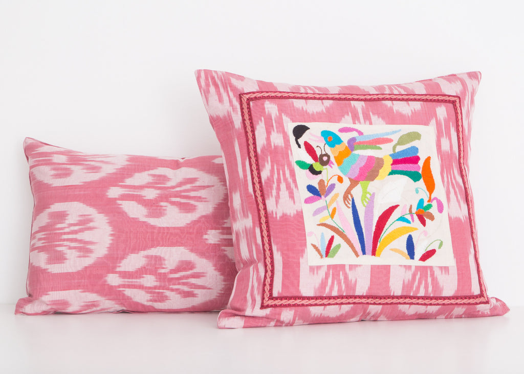 Sarrant Silk Ikat Pillow