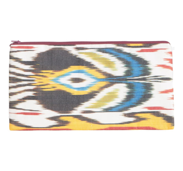 """Paon"" Silk Ikat Clutch"