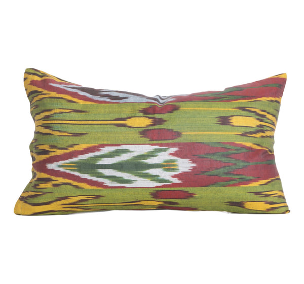 """Termez"" Silk Ikat Pillow"