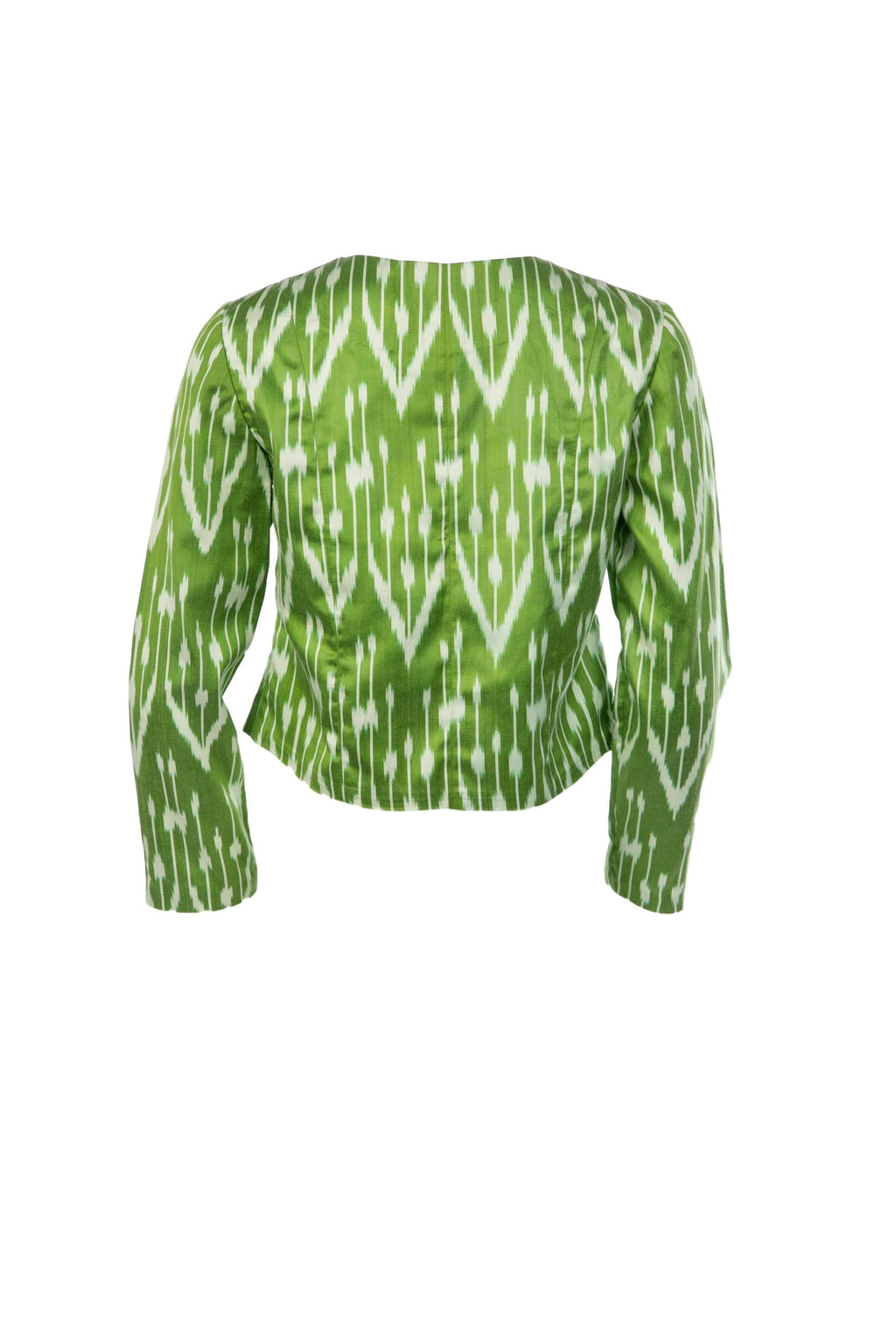Brusnwick Silk Ikat Bolero Jacket