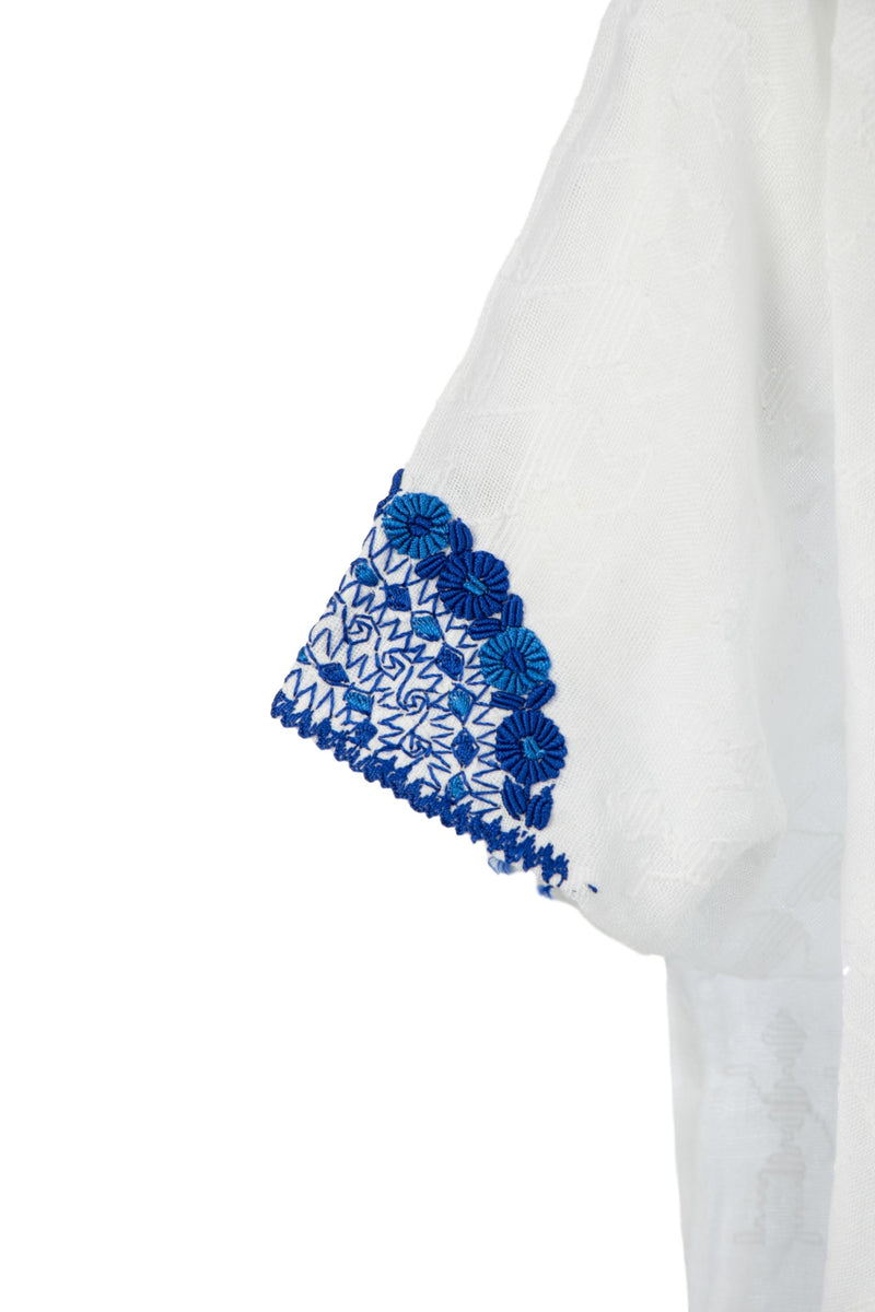 Evelyn Guatemalan Blouse - Blue