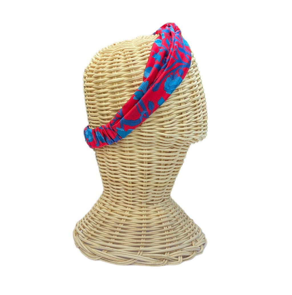 Helen Style Liberty of London Headband - Red, Brilliant Blue