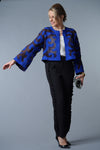 Felted Wool Jacket - Brilliant Blue and Black