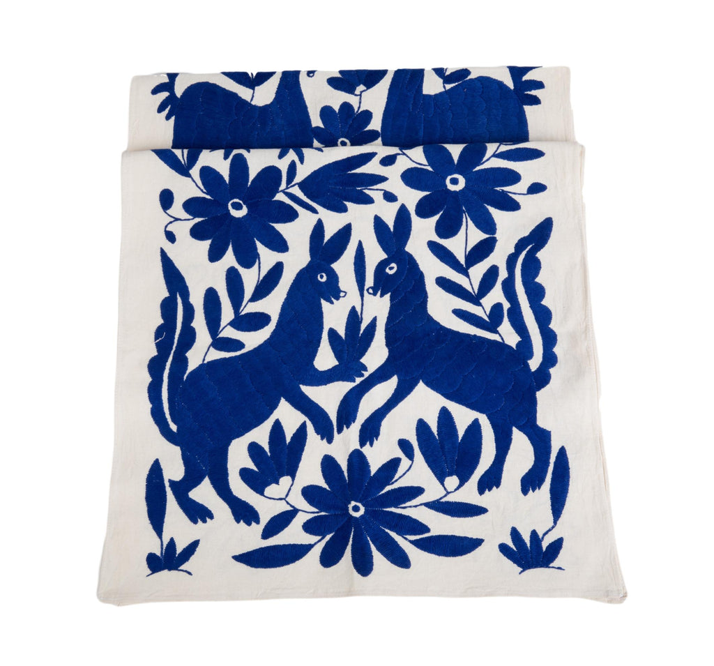 Otomi Table Runner - Royal Blue