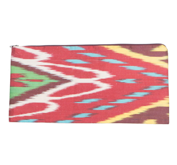 Silk Ikat Clutch Purse